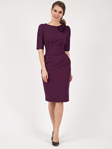 Платье kriss, цвет сливовый