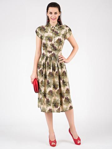 Платье retvy, цвет бежевый