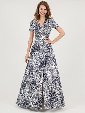 Платье mervin, цвет бело-синий