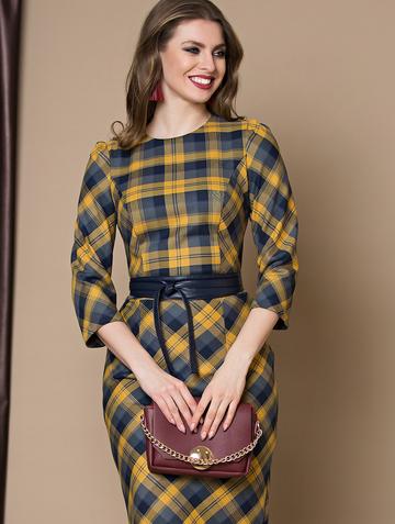 Платье pavlina, цвет серо-желтый