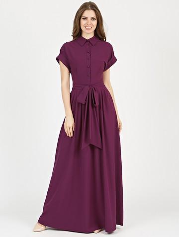 Платье rikarda, цвет лилово-бордовый