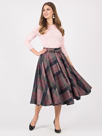 Юбка mariam, цвет серо-розовый