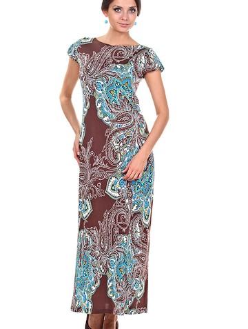 Платье princes, цвет мокко с бирюзой