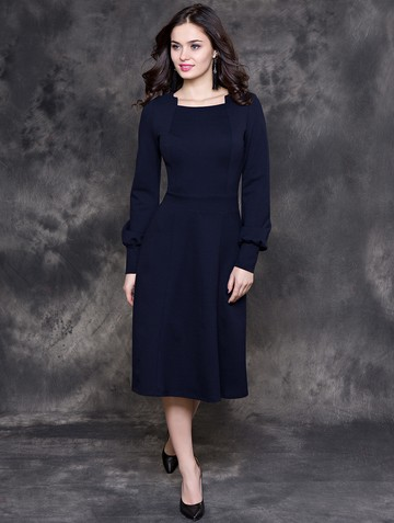 Платье iva, цвет темно-синий