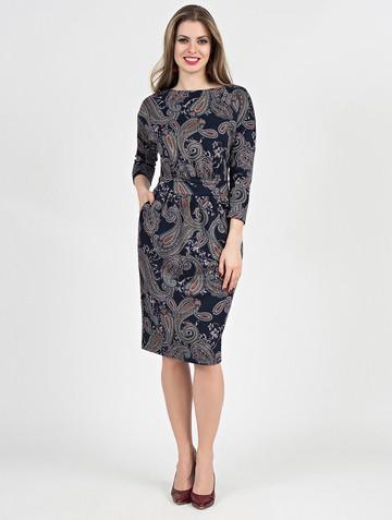 Платье dilara, цвет чернильный