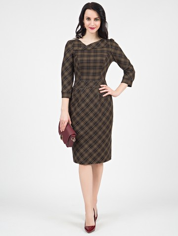 Платье malvina, цвет шоколадный