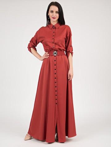 Платье inspira, цвет терракотовый