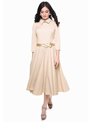 Платье macgery, цвет бежевый