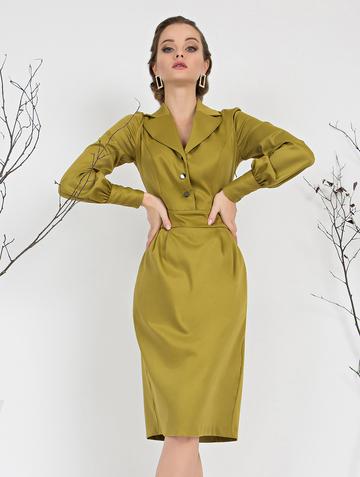 Платье rammy, цвет горчичный