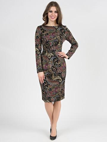 Платье parisa, цвет черно-бежевый