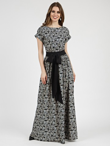 Платье tayva, цвет черно-молочный