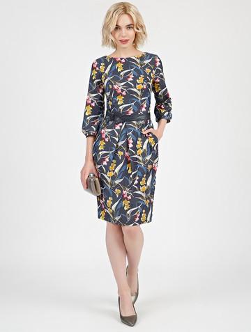 Платье dayan, цвет сине-желтый