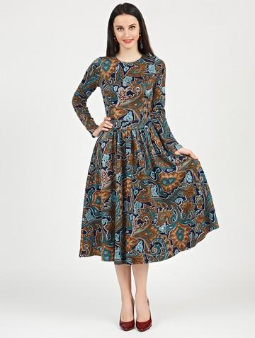 Платье daria, цвет сине-бирюзовый